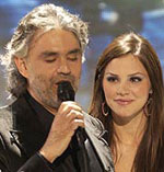 Andrea Bocelli and Katherine McPhee