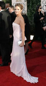 Drew Barrymore at the Golden Globes - photo from yahoo.com