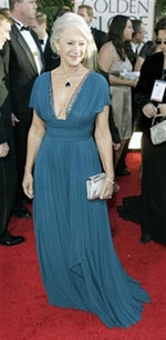 Helen Mirren at Golden Globe Awards - photo from yahoo.com