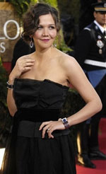 Maggie Gyllenhaal at the Golden Globe Awards - photo from yahoo.com