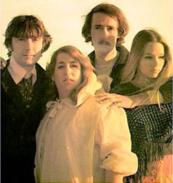 Denny Doherty (left) with the Mamas and Papas