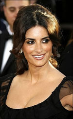 Penelope Cruz at the Golden Globes - Photo from yahoo.com