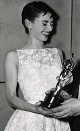 Audrey Hepburn with her Academy Award