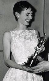 Audrey Hepburn with her AcademyAward