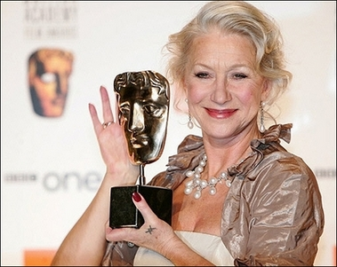 Helen Mirren at the BAFTA Awards