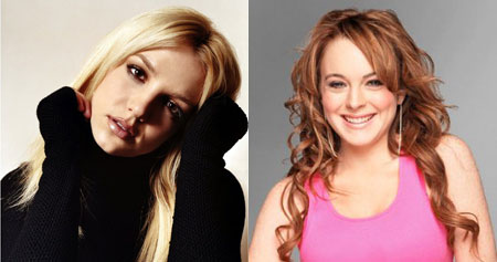 Britney Spears and Lindsay Lohan