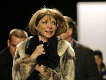 Anna Wintour Wears Fur to Michael Kors Fall Preview
