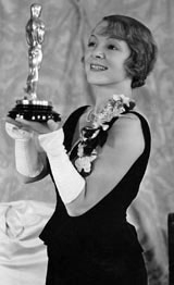 Heleh Hayes with her Academy Award