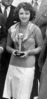 Janet Gaynor with her AcademyAward