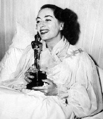 Joan Crawford with her Academy Award