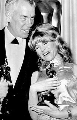 Julie Christie with her Academy Award