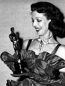 Loretta Young with her Academy Award