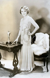 Mary Pickford with her Academy Award