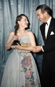 Olivia de Havilland with her Academy Award
