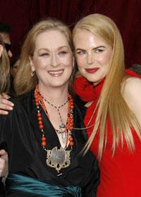 Meryl Streep with Nicole Kidman