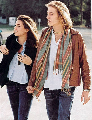 Charlotte and Andrea Casiraghi