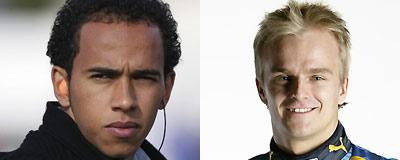 Lewis Hamilton and Heikki Kovalainen