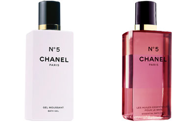 Chanel No. 5 Bath Gel and Essential Oils