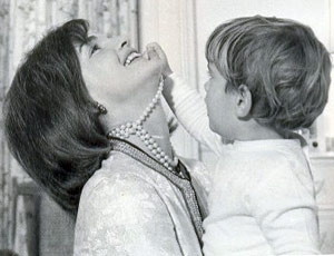 Jacqueline Kennedy Wearing Pearls