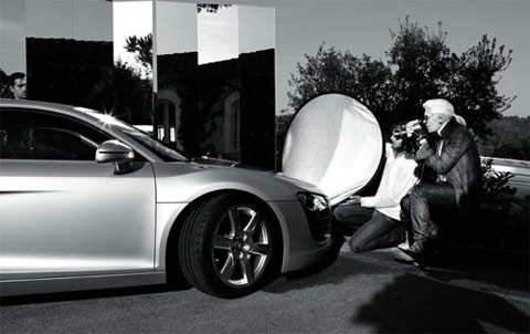 Karl Lagerfeld and the Audi R8