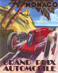 Monaco Grand Prix - VintagePoster