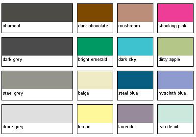 Gray color chart from Trinny andSusannah