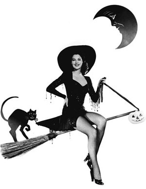 Ava Gardner Sexy Witch Pin Up