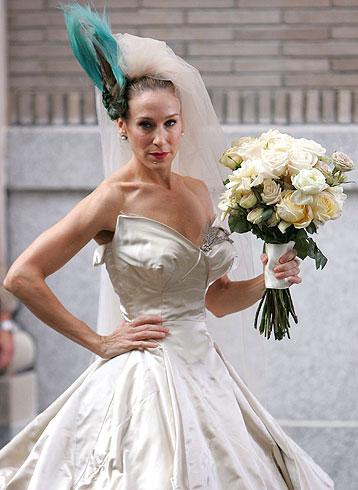 Carrie Bradshaw Zac Posen WeddingDress
