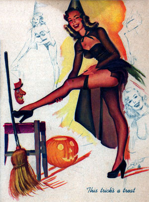 Sexy Witch Pin Up