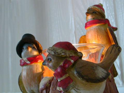 Birds candleholder