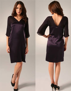 WAYF 3/4 Sleeve V Neck Dress