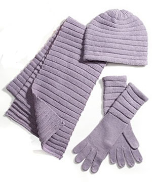 Accordian Knit Scarf Set at Macy's