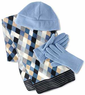 Microfleece Scarf Set at J.C. Penney