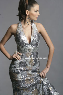 Atelier Alyce metallic prom dress