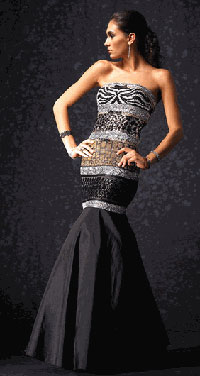 Alyce animal print prom gown