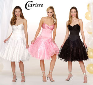 Clarisse short lace prom dress