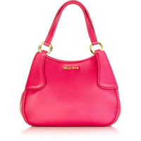 Miu Miu Spongy leather rounded tote