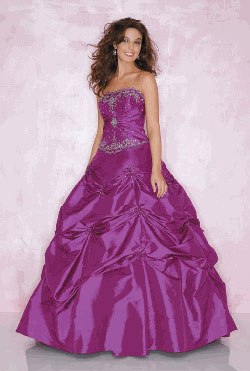 Mori Lee strappless prom gown