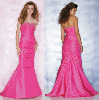 Mori Lee mermaid prom gown