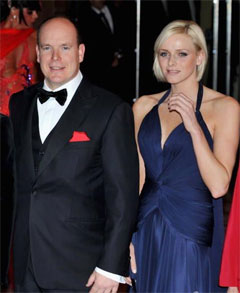 Prince Albert with Charlene Wittstock
