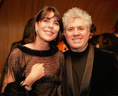 Princess Caroline with Pedro Almodovar