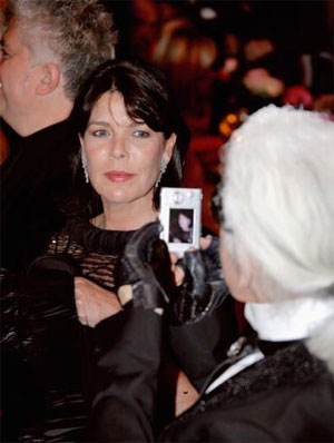 Princess Caroline with Karl Lagerfeld