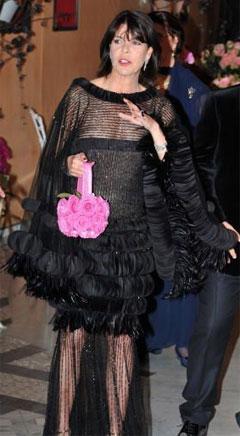 Princess Caroline's dress and purse at the 2008 Rose Ball inMonaco