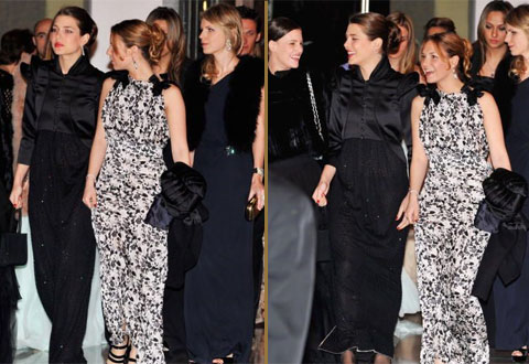 Charlotte Casiraghi arriving at the 2008 Rose Ball in Monaco