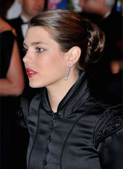 Details of Charlotte Casiraghi's makeup at the Rose Ball