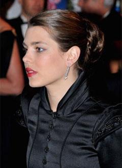Details of Charlotte Casiraghi's makeup at the RoseBall
