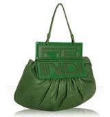 Fendi emerald green nappa leatherpurse