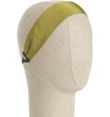 Colette Malouf olive green grosgrain reversibleheadband