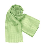 Green silk scarf by Versace