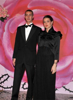 Pierre Casiraghi and Charlotte Casiraghi at the 2008 Rose Ball inMonaco